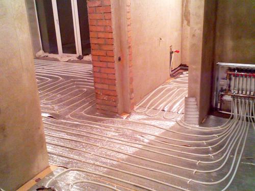 Система отопления частного дома с теплым полом своими руками схема 168